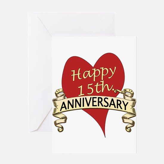 15th Anniversary Greeting Cards