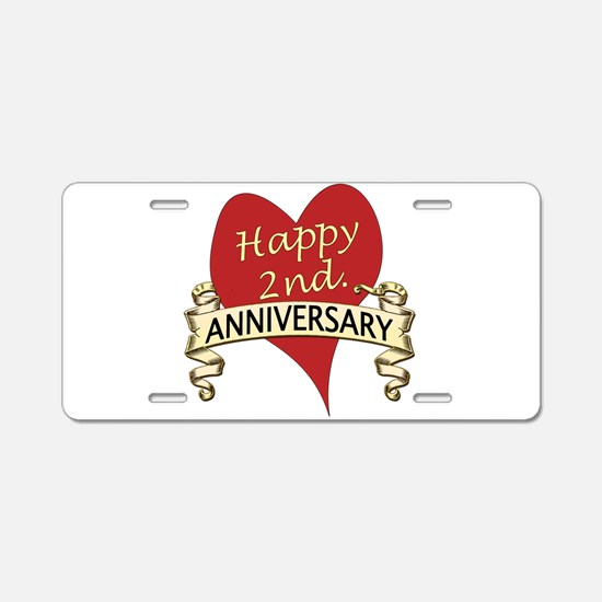Cute Anniversary Aluminum License Plate