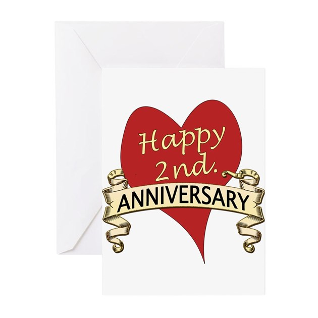 2nd. Anniversary Greeting Cards By Happy_Couples