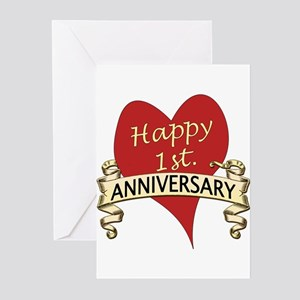 1st wedding anniversary greeting cards cafepress 1st anniversary greeting cards m4hsunfo Images