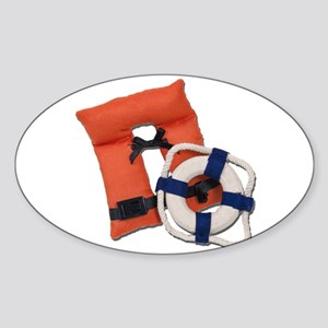 Life Preserver Life Vest Sticker (Oval)