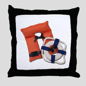 Life Preserver Life Vest Throw Pillow