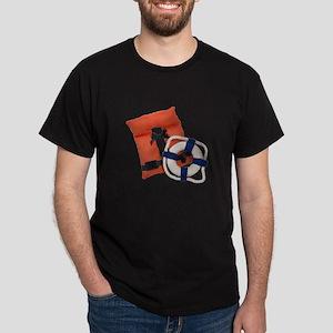 Life Preserver Life Vest Dark T-Shirt