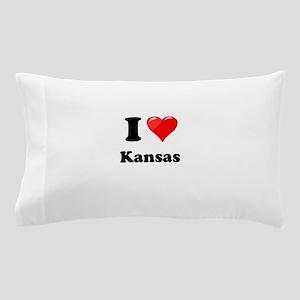 I Heart Love Kansas Pillow Case