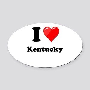 I Heart Love Kentucky Oval Car Magnet