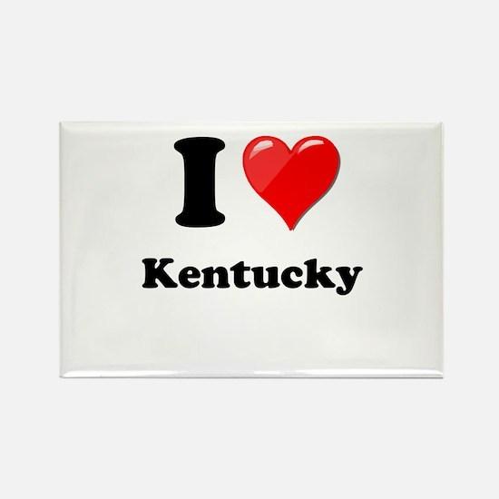 I Heart Love Kentucky.png Rectangle Magnet