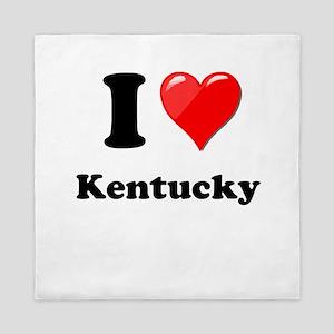 I Heart Love Kentucky Queen Duvet