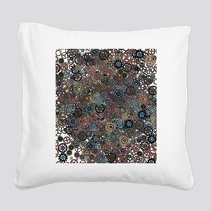 Lots of Gears Square Canvas Pillow