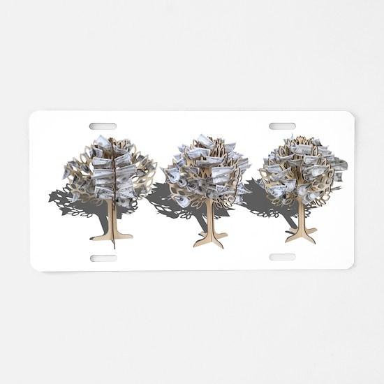 Money Trees Aluminum License Plate
