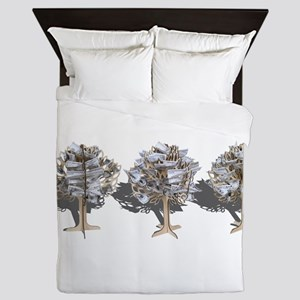 Money Trees Queen Duvet
