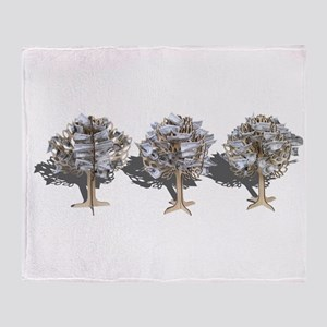 Money Trees Throw Blanket