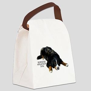 Berner Rug Pose - Canvas Lunch Bag
