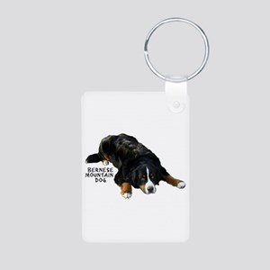 Berner Rug Pose - Aluminum Photo Keychain