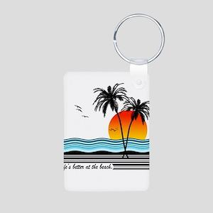 Better at the beach Aluminum Photo Keychain