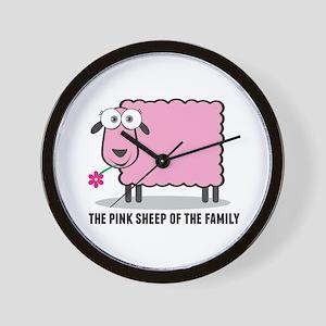 CRAZYFISH pink sheep Wall Clock