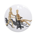 Office Chair Race Ornament (Round)