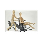 Office Chair Race Rectangle Magnet (100 pack)