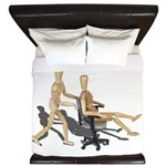 Office Chair Race King Duvet