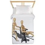 Office Chair Race Twin Duvet
