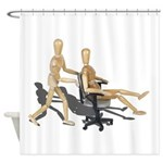 Office Chair Race Shower Curtain