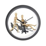Office Chair Race Wall Clock