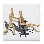 Office Chair Race Tile Coaster