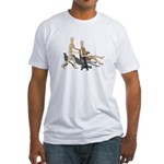 Office Chair Race Fitted T-Shirt