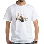 Office Chair Race White T-Shirt