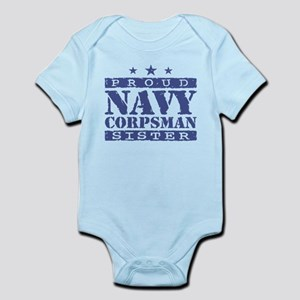 Navy Corpsman Sister Infant Bodysuit