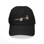 Police Badge and Gavel Black Cap