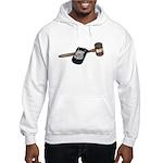 Police Badge and Gavel Hooded Sweatshirt