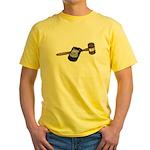 Police Badge and Gavel Yellow T-Shirt