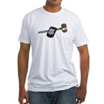 Police Badge and Gavel Fitted T-Shirt