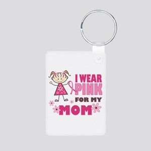Wear Pink 4 Mom Aluminum Photo Keychain