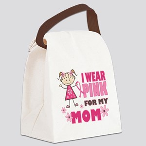 Wear Pink 4 Mom Canvas Lunch Bag