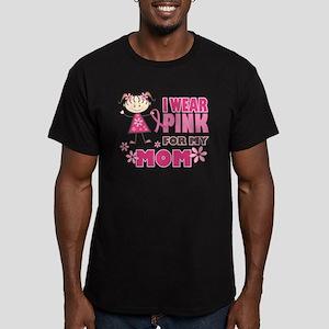 Wear Pink 4 Mom Men's Fitted T-Shirt (dark)