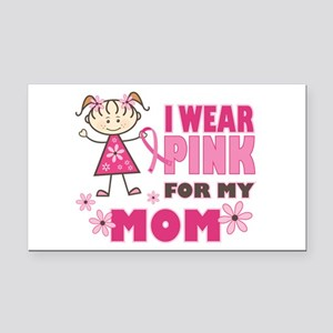 Wear Pink 4 Mom Rectangle Car Magnet