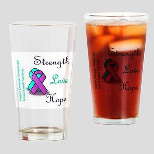 Strength Love Hope Drinking Glass