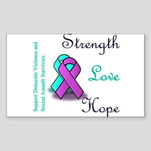 Strength Love Hope Sticker (Rectangle)