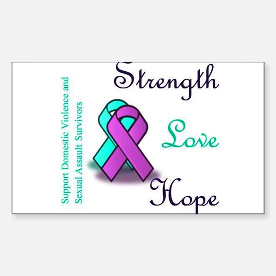 Strength Love Hope Sticker (Rectangle)