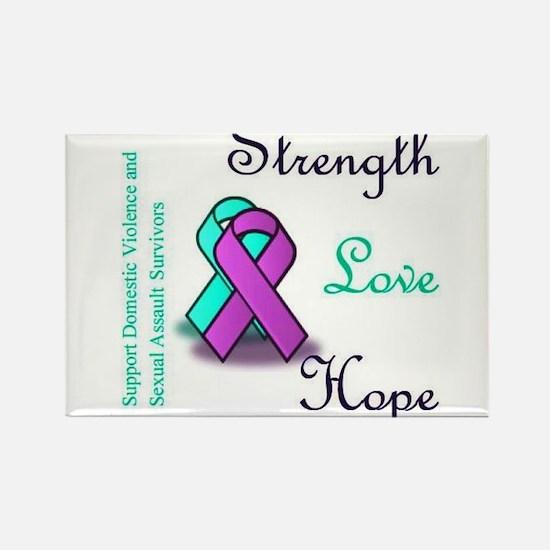 Strength Love Hope Rectangle Magnet