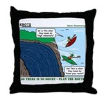 Kayaking Adventure Throw Pillow