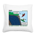 Kayaking Adventure Square Canvas Pillow