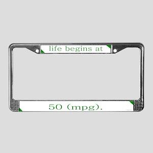 50 MPG License Plate Frame