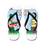 Rifle Shooting Flip Flops