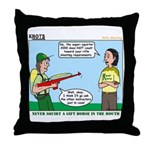 Rifle Shooting Throw Pillow