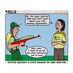 Rifle Shooting Throw Blanket