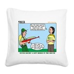 Rifle Shooting Square Canvas Pillow