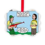 Rifle Shooting Picture Ornament