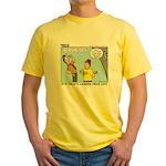 Model Building Yellow T-Shirt
